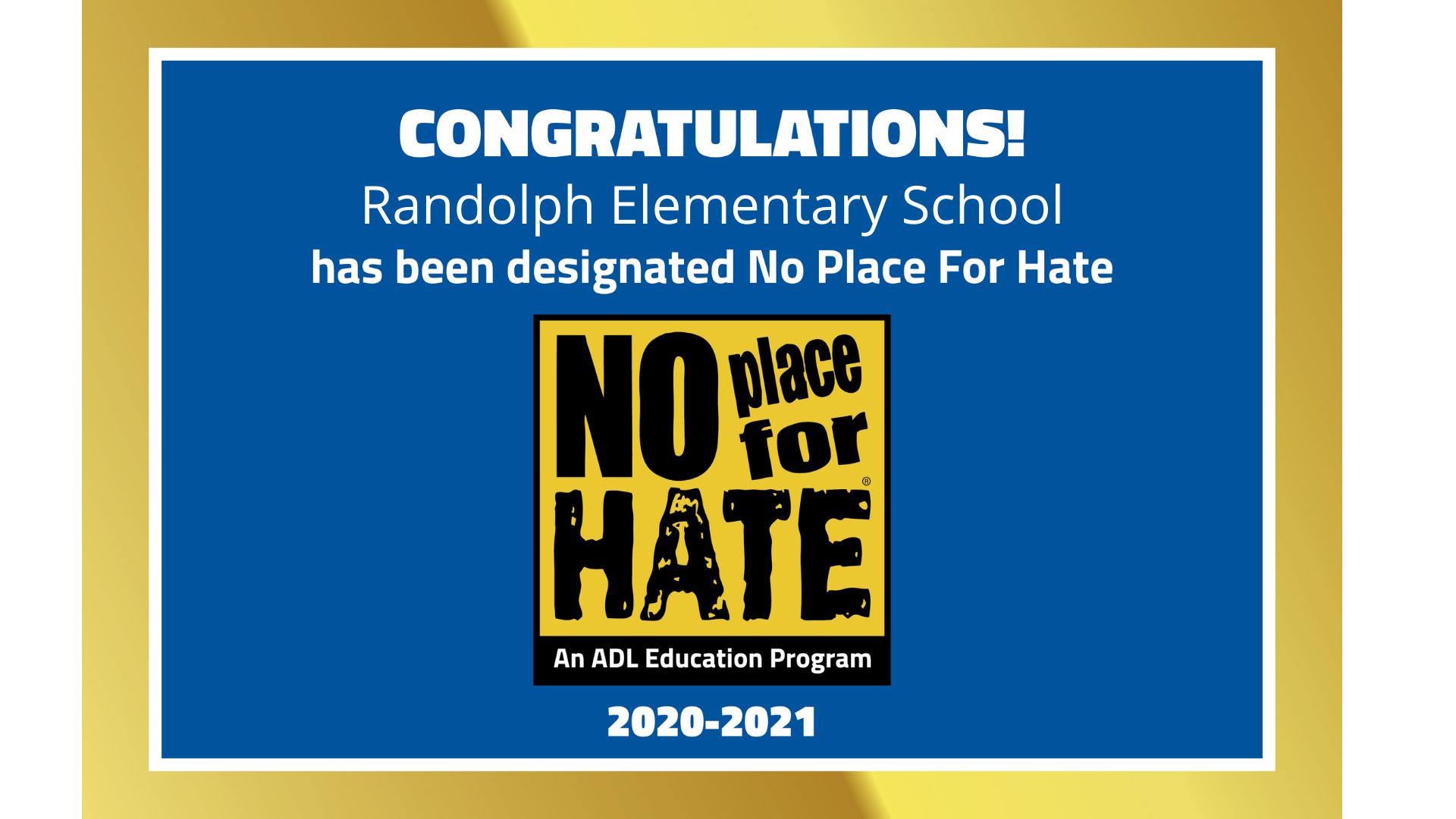 Randolph-No Place For Hate 2020-2021
